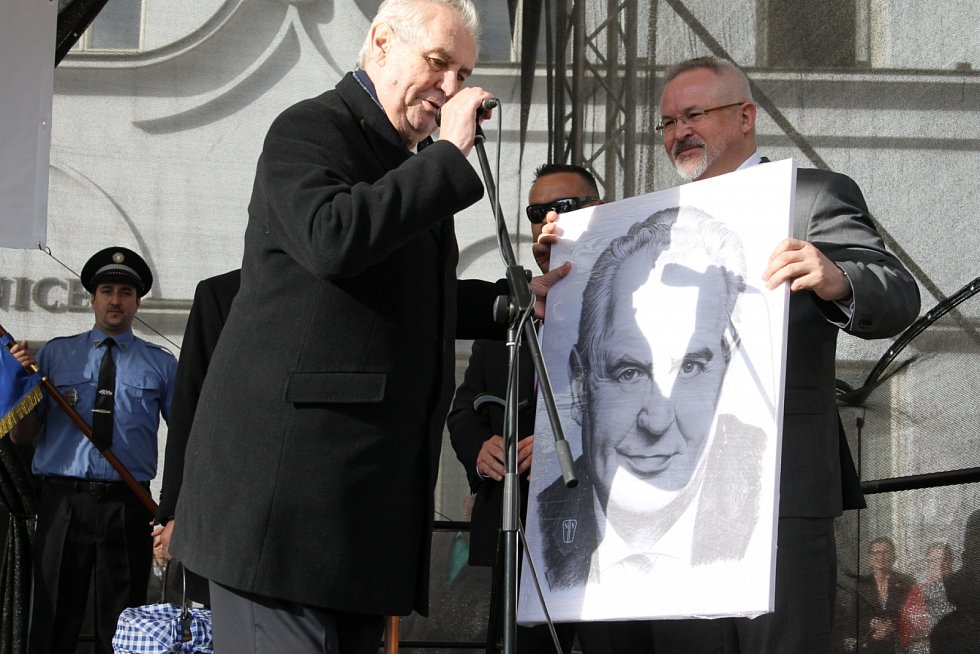 Prezident Miloš Zeman v Benešově