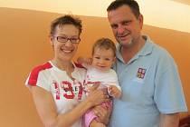 Lucie Heindlová se svým manželem Romanem Heindlem, který zároveň působí jako trenér české ženské in–line hokejové reprezentace, a roční dcerou Lucinkou.