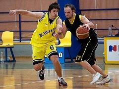 Finále krajského přeboru v basketbale Benešov B - Kralupy nad Vltavou.
