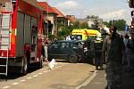 Nehoda tří osobních automobilů v ulici Na Chmelnici