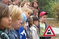 Část dopravní soutěže základních škol se uskuteční na zahradě bystřické školky. Ilustrační foto.