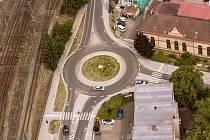 II/110 Benešov, dopravní opatření u nádraží.