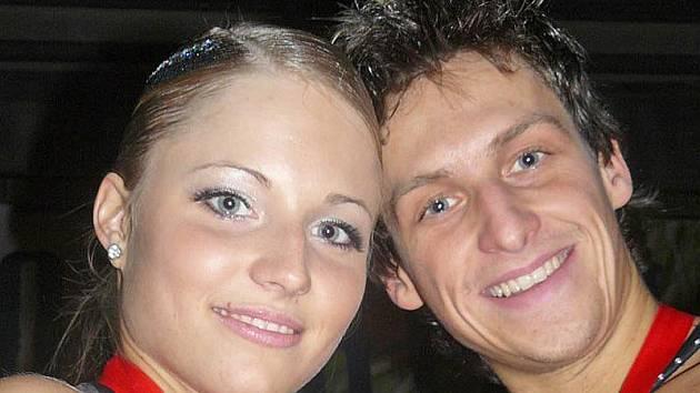 Bronzový Pavel Sirotek a Veronika Šindelářová.