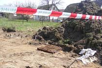 Munice nalezená bagristou v Čerčanech.