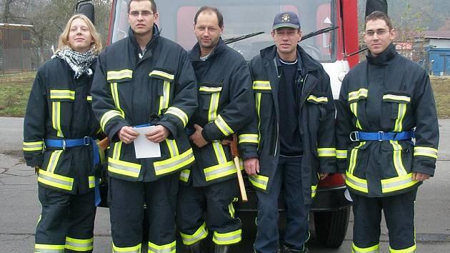 SBOR dobrovolných hasičů se také zúčastnil taktického výcviku na konci řijna v Týnci.