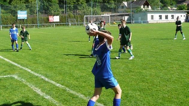 Ze zápasu žáků Sázava - Benešov B