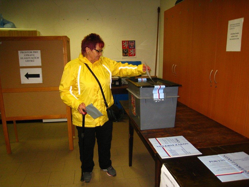 Týnec nad Sázavou - Zájem o hlasování, vyšší než při posledních volbách, zaznamenali komisaři také ve volebním okrsku číslo 9, který je v hasičské zbrojnici.