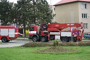 Nehoda vozidla ZZS v centru Benešova.