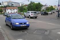 Křižovatka ulic Nová Pražská, Antuškova, Čechova.