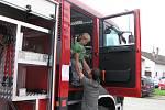 Zásahový Man a ostatní výjezdovou techniku předvedli hasiči veřejnosti v sobotu při setkání modelářů.