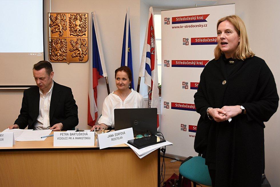 Výstavní program na rok 2018 i doprovodní programy pro letošní rok představila ve čtvrtek Galerie Středočeského kraje v Kutné Hoře – GASK. Na snímku ředitelka GASK Jana Šorfová.