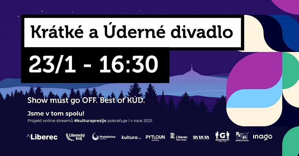 Liberecký soubor Krátké a Úderné divadlo přichází s tím nejlepším ze svého repertoáru.