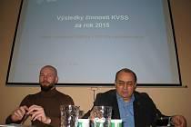Mluvčí SVS ČR Petr Pejchal a ředitel KVS Středočeského kraje Zdeněk Císař.
