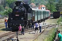 Lokomotivy potěšili ve Vlašimi milovníky vlaků. Zájemci si je prohlédli zvenku i zevnitř.