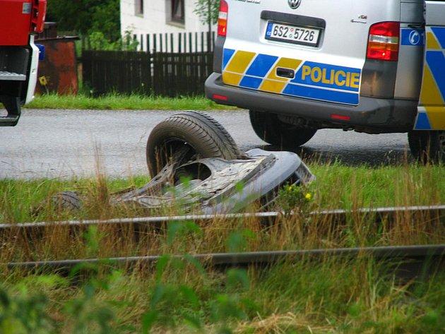 Nehoda v Chrástě se obešla bez zranění.