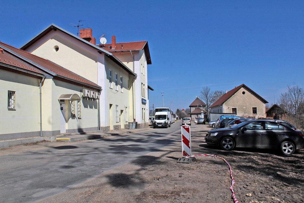 Vlakové nádraží na Veselce v Olbramovicích.