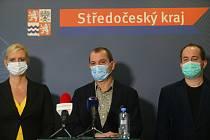 Z tiskové konference v sídle hejtmanství Středočeského kraje.