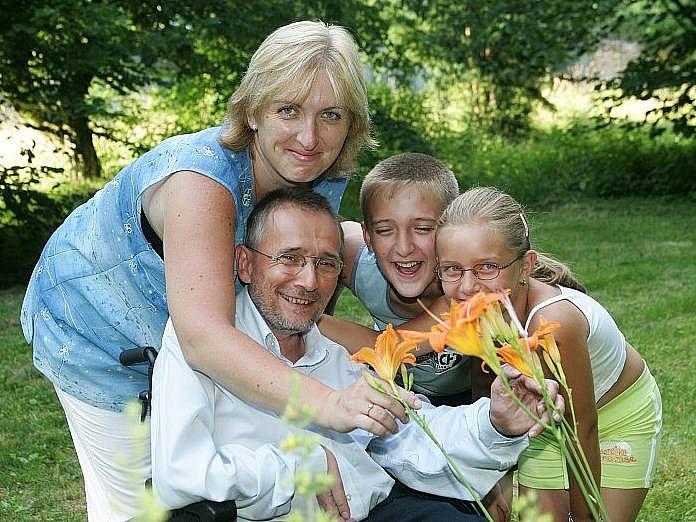 Václav Krása s rodinou