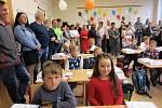 Prvňáčci v Základní škole v Trhovém Štěpánově.