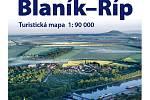 Turistická mapa poutní cesty Blaník - Říp v měřítku 1:90000.