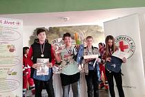 Děti z kroužku Záchranáři Domu děti a mládeže v Benešově