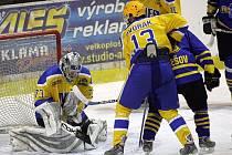 Z hokejového utkání NED Hockey Nymburk - HC VHS Benešov