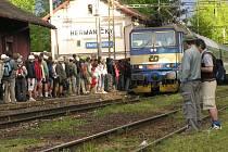 Vlakové nádraží v Heřmaničkách