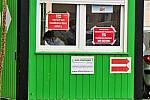 Odběrové místo pro pacienty s podezřením na nákazu koronavirem v Benešově.