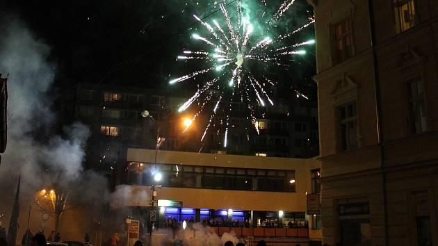 Vítání Nového roku 2014 v Benešově.