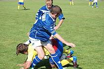 V zápase Kladna s Benešovem nebyla o zajímavé okamžiky nouze.