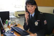 Eva Stulíková, tisková mluvčí a preventistka Krajského ředitelství policie Středočeského kraje územního odboru  Benešov.