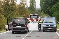 Tragická dopravní nehoda mezi Horními Jirčany a Jesenicí.