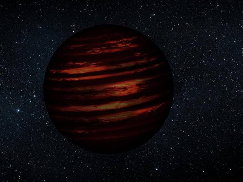 Hnědý trpaslík ve sluneční soustavě.