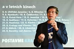 Ze zahájení kampaně středočeské ODS v pražském Jazz Docku před říjnovými krajskými volbami. Na snímku je lídr kandidátky Martin Kupka.
