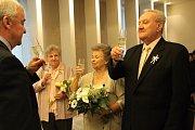 Zlatá svatba manželů Anežky a Zdeňka Budilových.