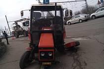 Traktor v Benešově.