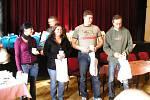 Ocenění dobrovolných dárců krve v sále Na Poště.