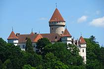 Zámek Konopiště připravuje opravu střech.