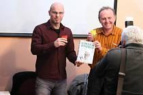 Křest knihy Činská studie se slovenským výživovým poradcem Igorem Bukovským a improvizátorem a hercem Jaroslavem Duškem.