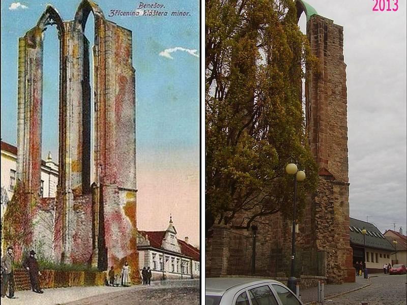 Benešov - Torzo Minoritského kostela Nanebevzetí Panny Marie z 13.století.