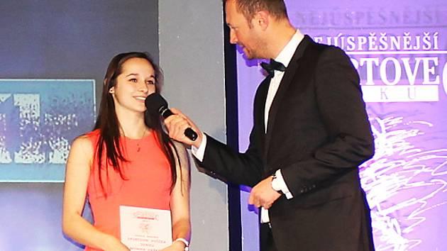 Monika Hašková si byla při vyhlašování Sportovce roku 2017 na Benešovsku dvakrát na pódiu. Poprvé převzala cenu se spoluhráčkami z florbalu za druhé místo k kategorii mládež družstva a podruhé si již pro cenu za Hvězdu Deníku došla sama.