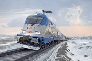 Expresy ČD mezi Prahou a Lincem potáhnou škodovácké třísystémové lokomotivy řady 380 s max. rychlostí 200 km/h.