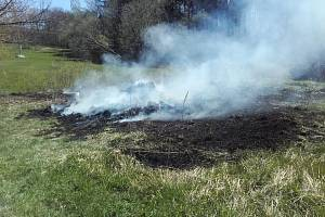 Požár bioskládky, ilustrační foto