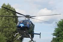 Vrtulník přivolaný k dopravní nehodě odlétl bez pacientky.