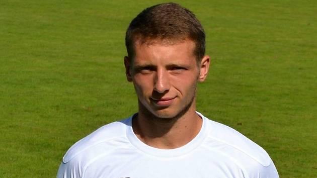 Fotbalista Oskar Fotr v dresu Vlašimi