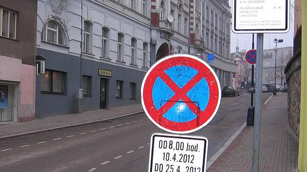 Tyršova ulice bude od úterý 10. do středy 25.dubna obousměrná.