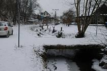 Mosty přes Benešovský potok v Bedrči.