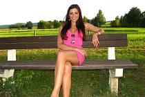 Lucie Sovová, evropská hasičská Miss Stražy požarnej 2012 a Miss sympatie publika v polském městě Cichowo.