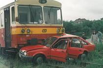 U vlašimských uhelných skladů se v ulici Na Spravedlnosti stala 23. června 1996 tato nehoda.