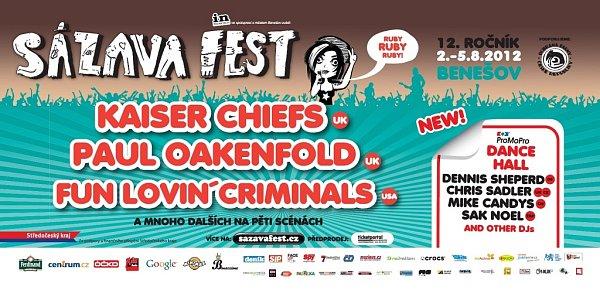 Pozvánka na Sázavafest 2012.